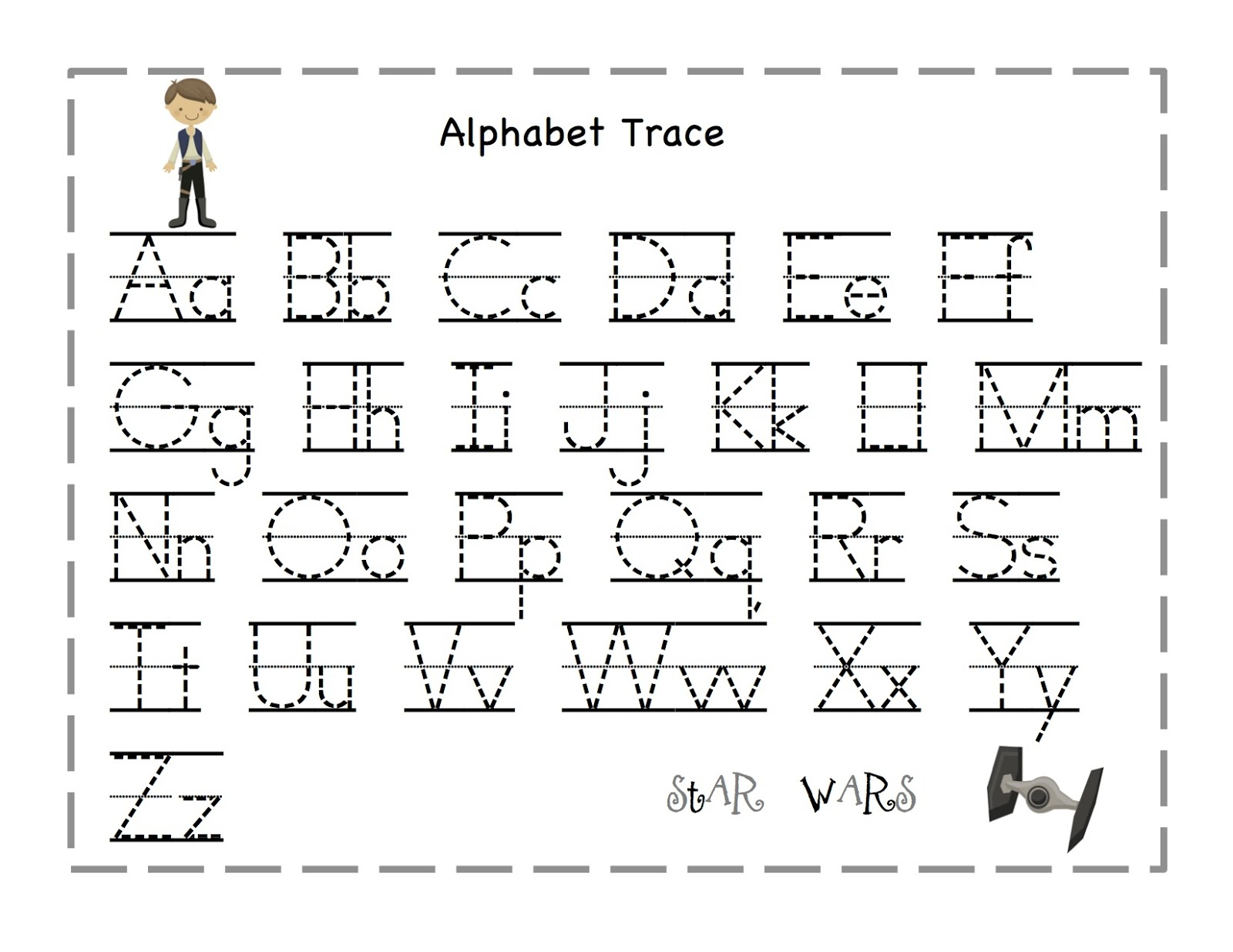 Incredible Letter Tracing Worksheets Image Ideas Name Free throughout Name Tracing A-Z