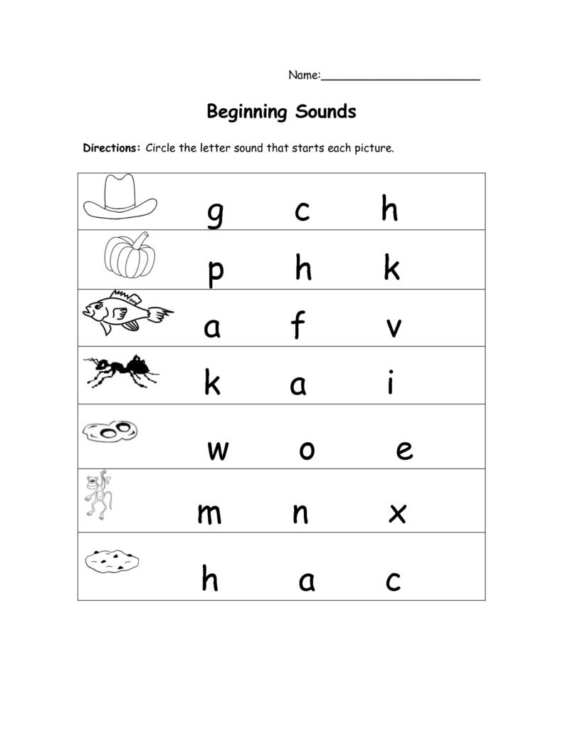Initial Sounds Worksheets | Dmmb Worksheets | Beginning Intended For Alphabet Sounds Worksheets For Kindergarten