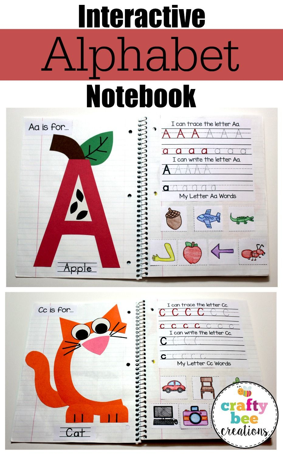 Interactive Alphabet Notebook (Uppercase Alphabet Letters for Letter Tracing Interactive