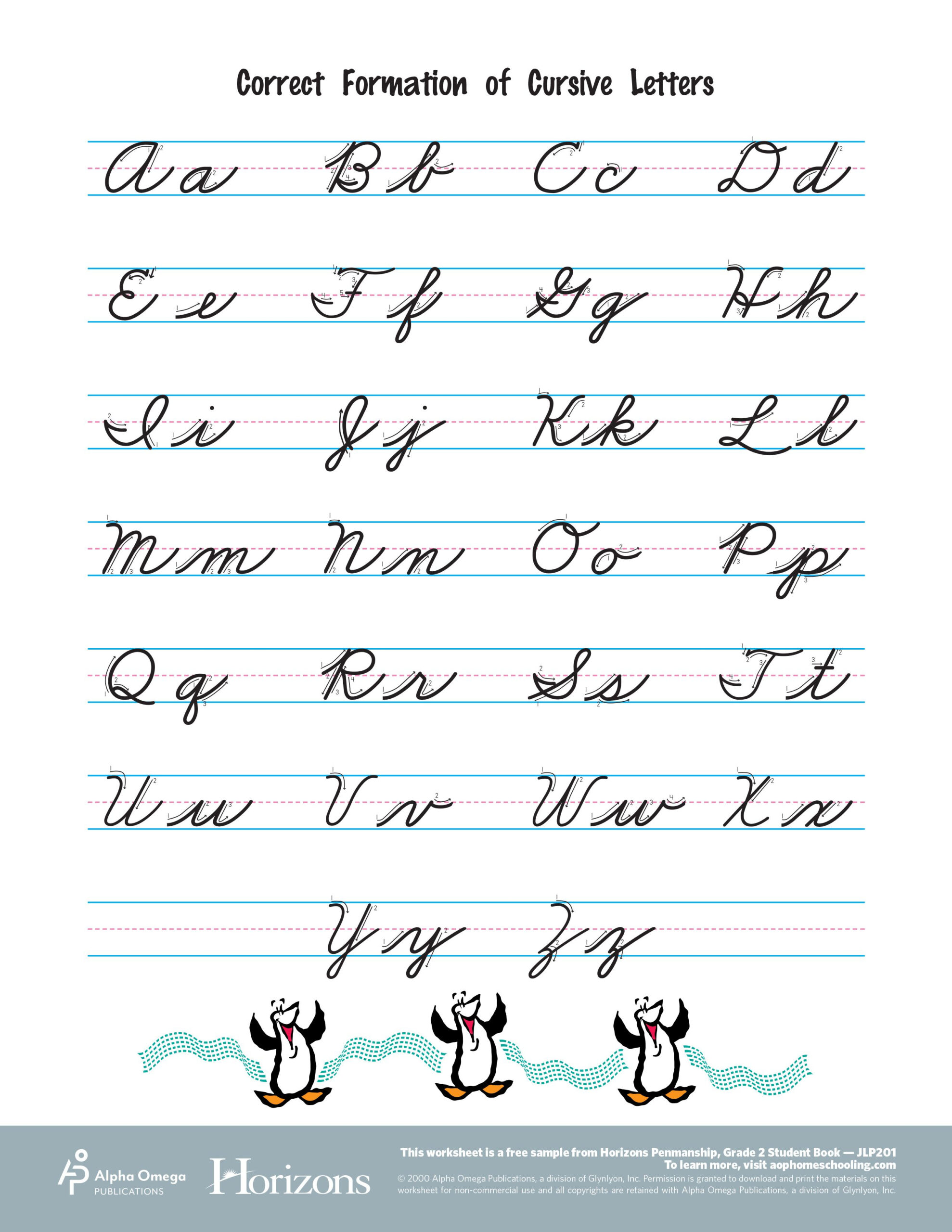 Interactive Cursive Letter Formation