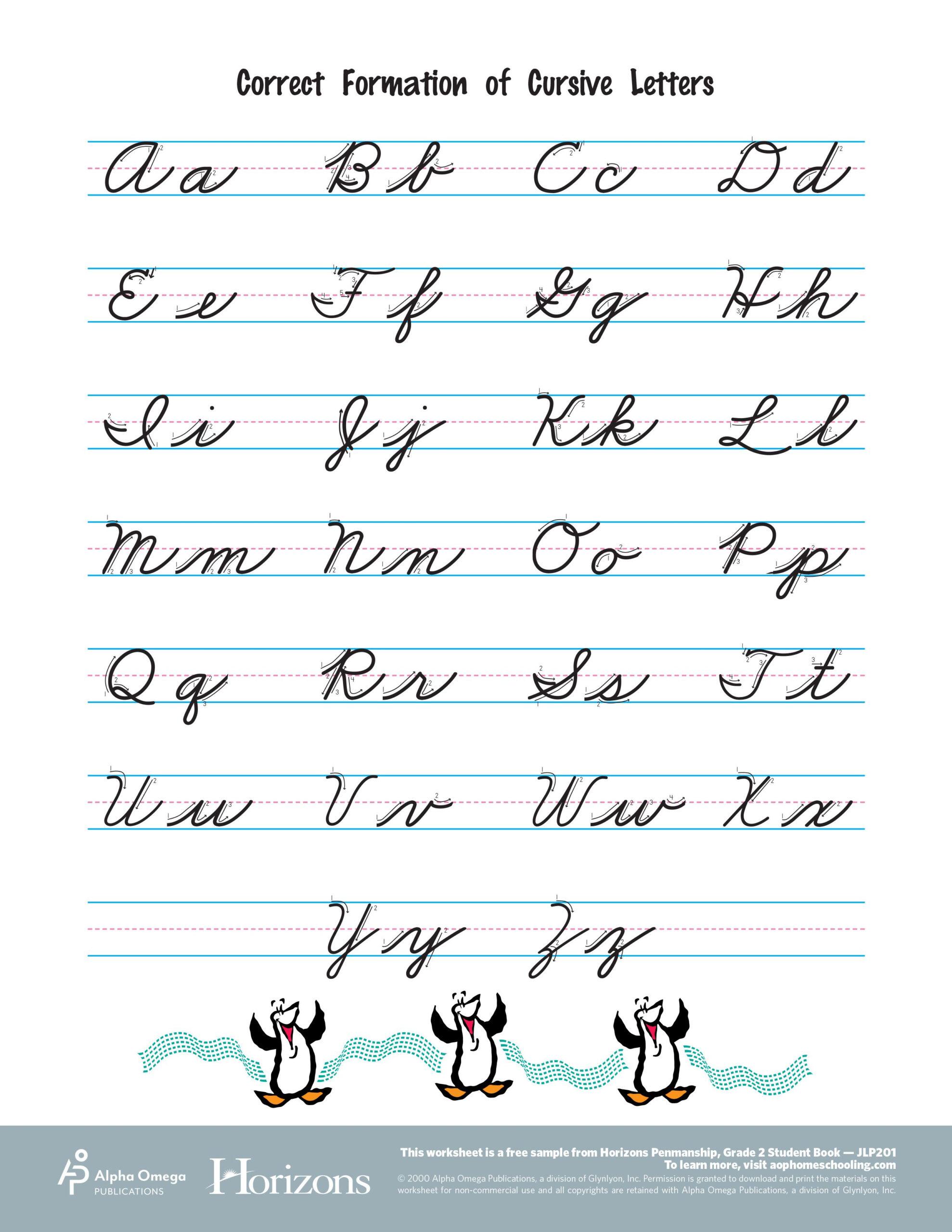 Interactive Cursive Letter Formation