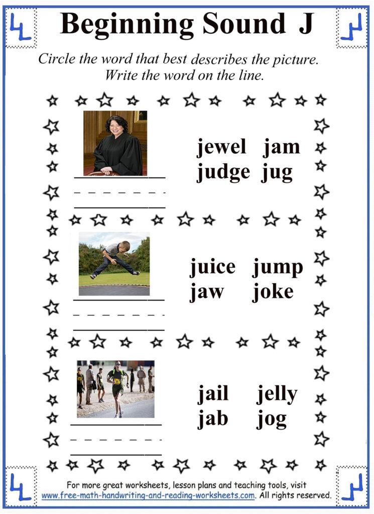 J Letter Worksheets Regarding Letter J Worksheets For First Grade