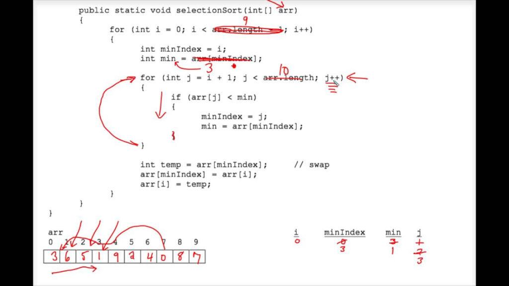 Java Sorting Tracing Worksheet 3