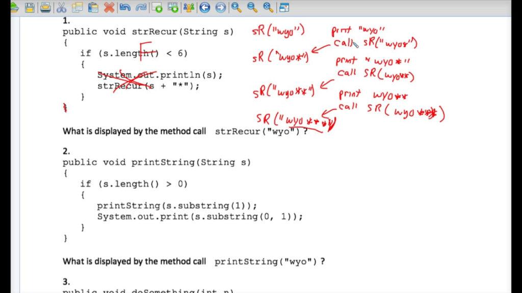 Java Tracing Recursion Worksheet #2 On Vimeo