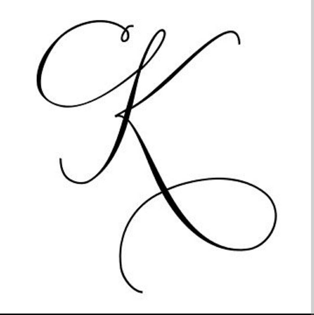 K Letter   Hand Lettering Alphabet, Tattoo Lettering, Tattoo