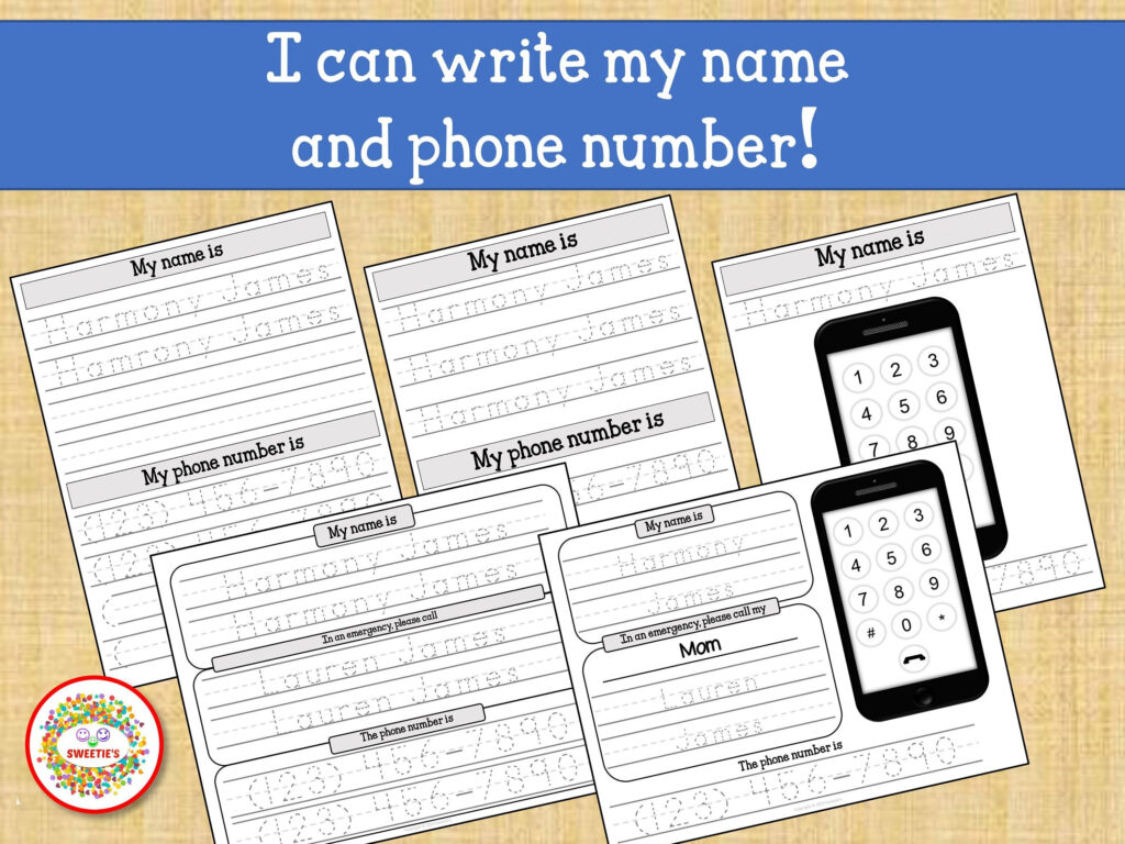 Kids Name Tracing Worksheet Learn To Write Name Learn Phone In Name Tracing For Grade 1
