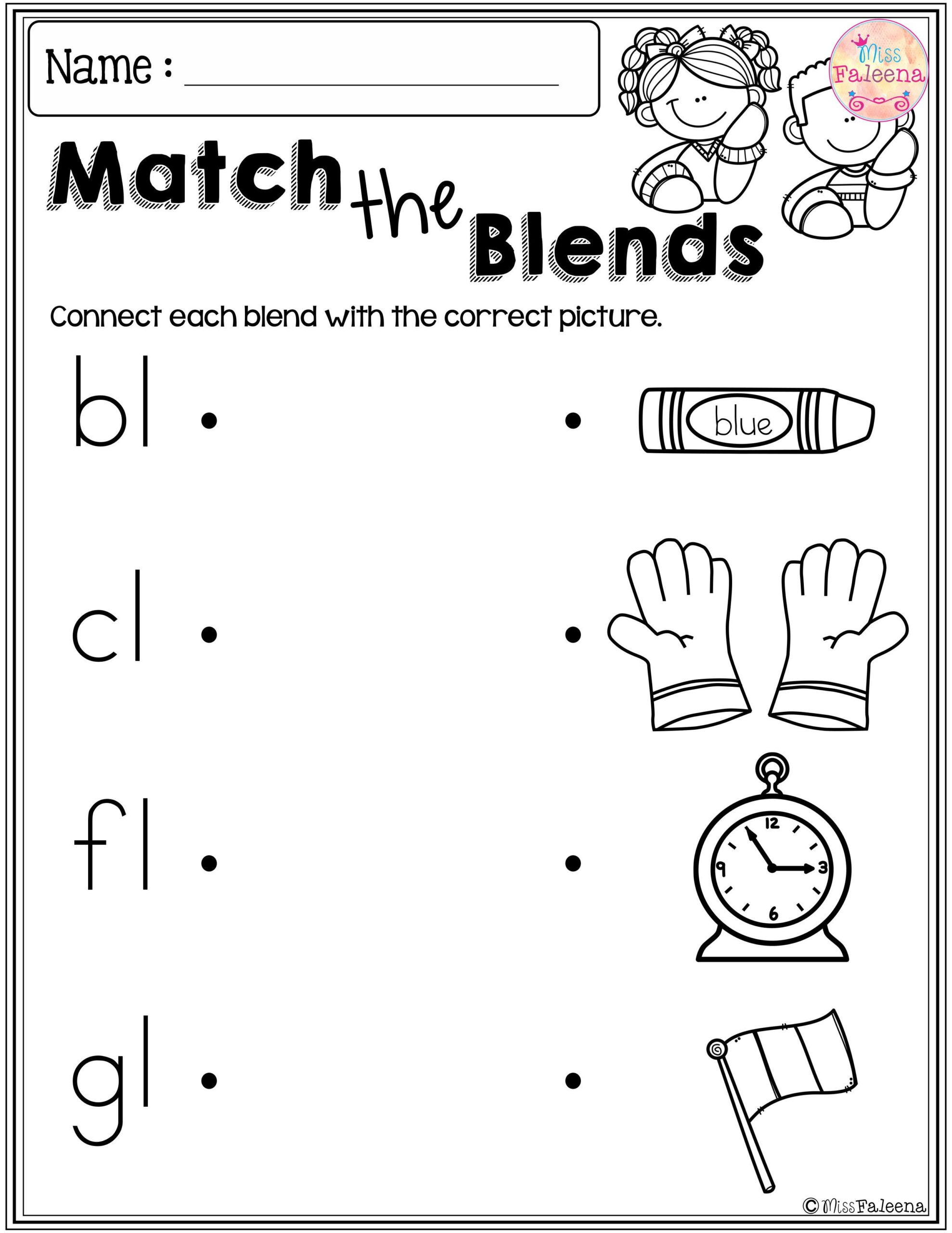 Kids Problems Cow Worksheets For Kindergarten Free Blends regarding Alphabet Blends Worksheets