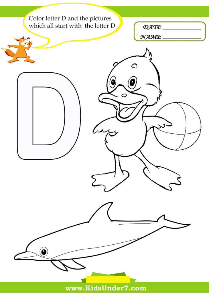 Kids Under 7: Letter D Worksheets And Coloring Pages Regarding Letter D Worksheets For Toddlers
