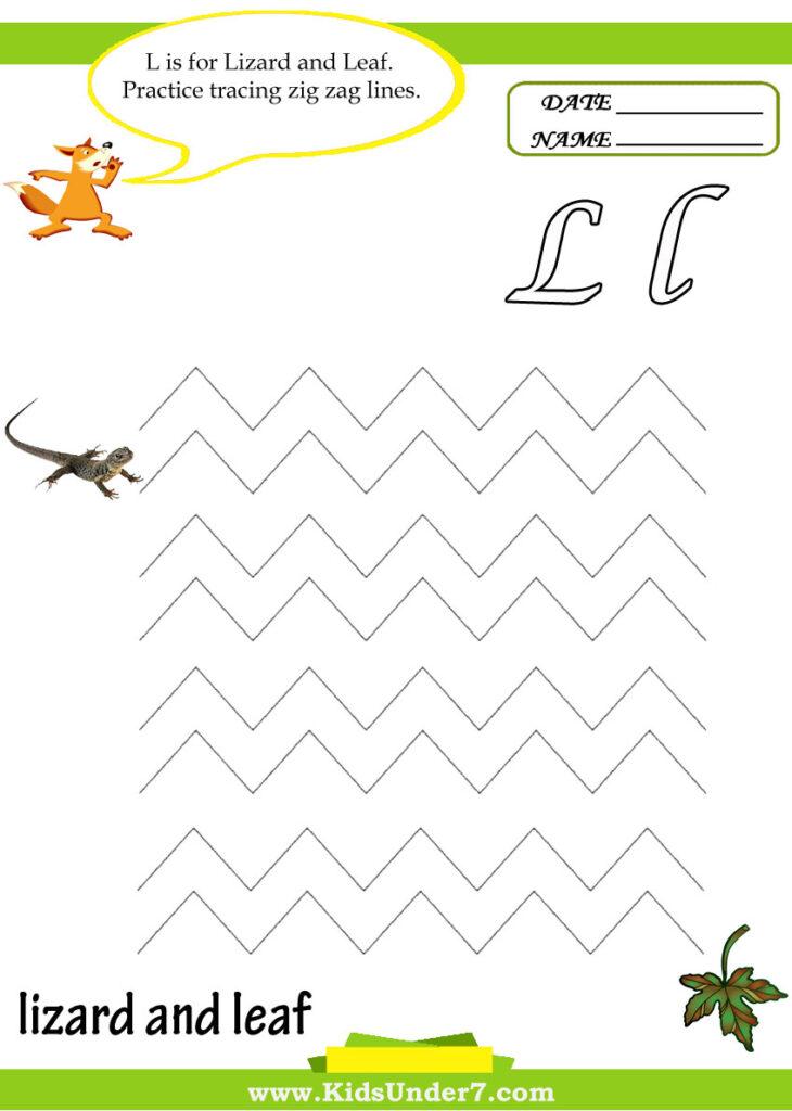 Kids Under 7: Letter L Worksheets