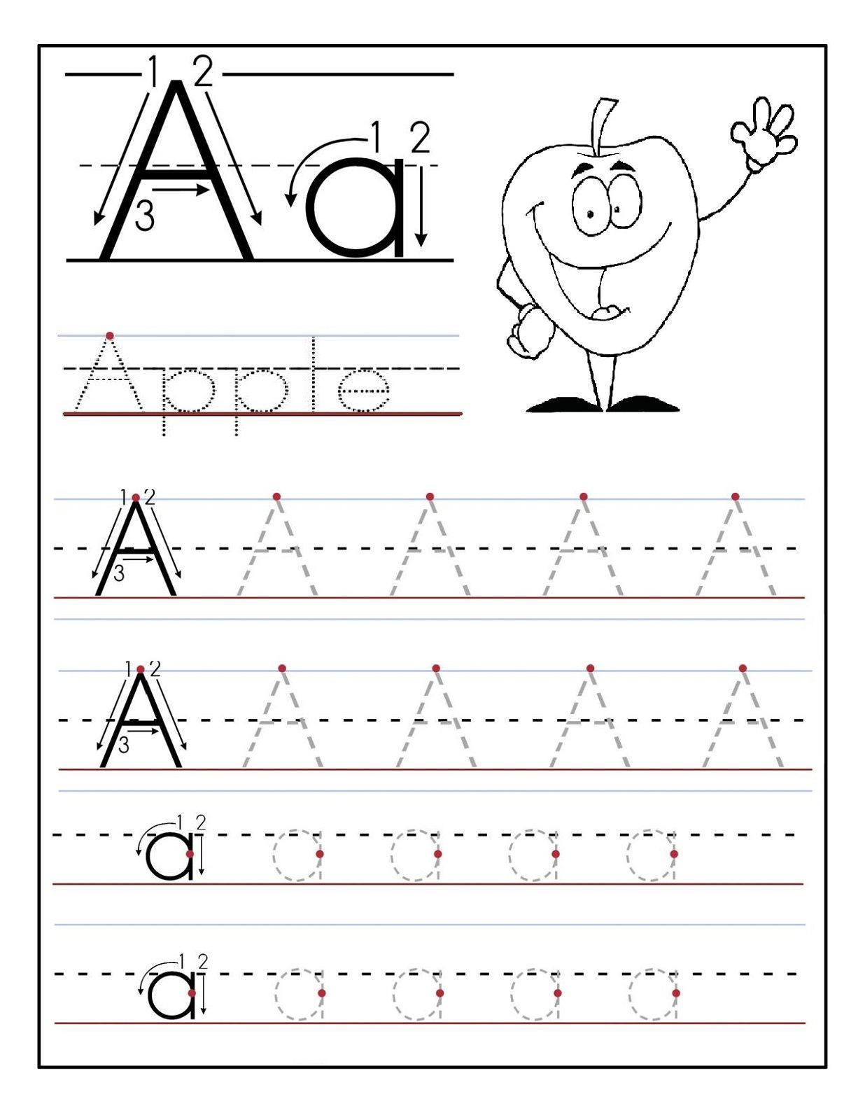 Kids Worksheet Abc Tracing To Learn Writing | Loving