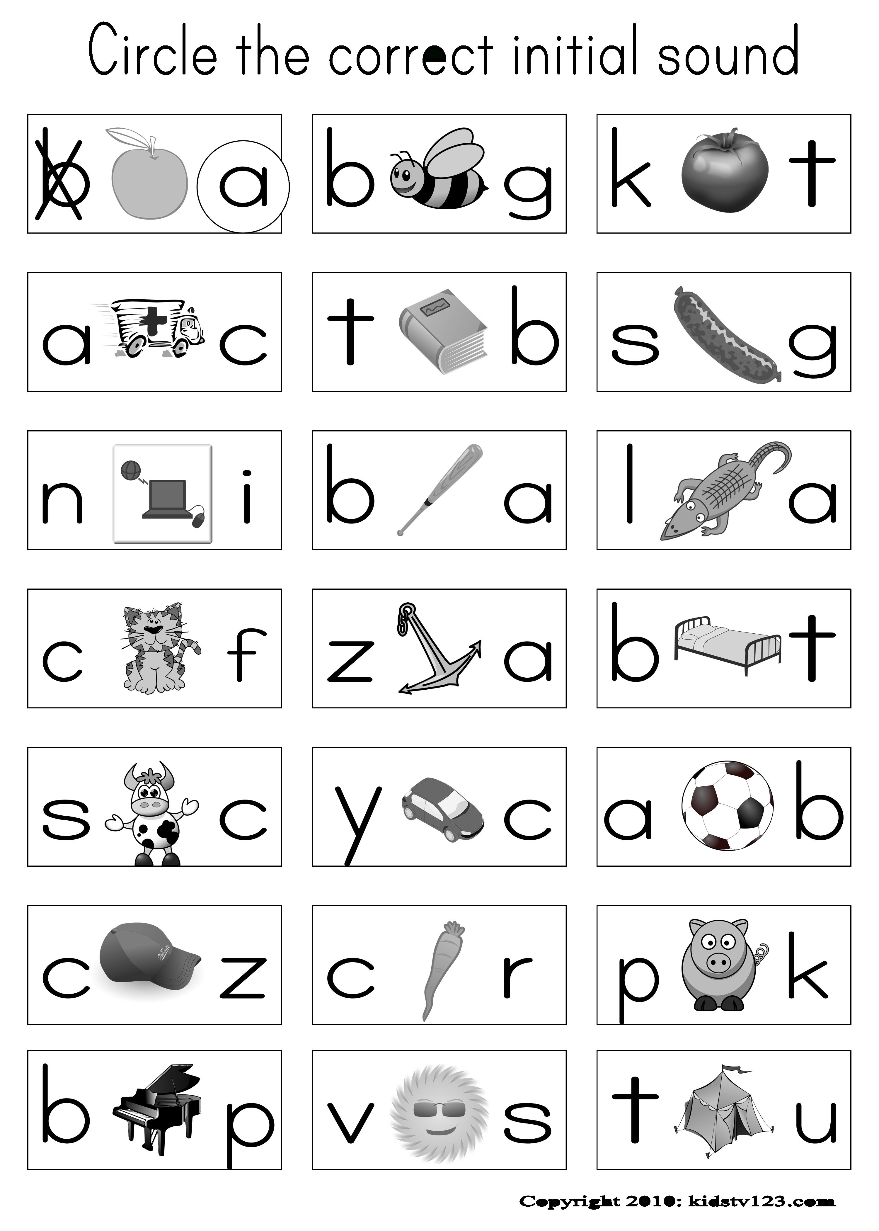 Kidstv123 - Phonics Worksheets | Phonics Kindergarten inside Alphabet Phonics Worksheets