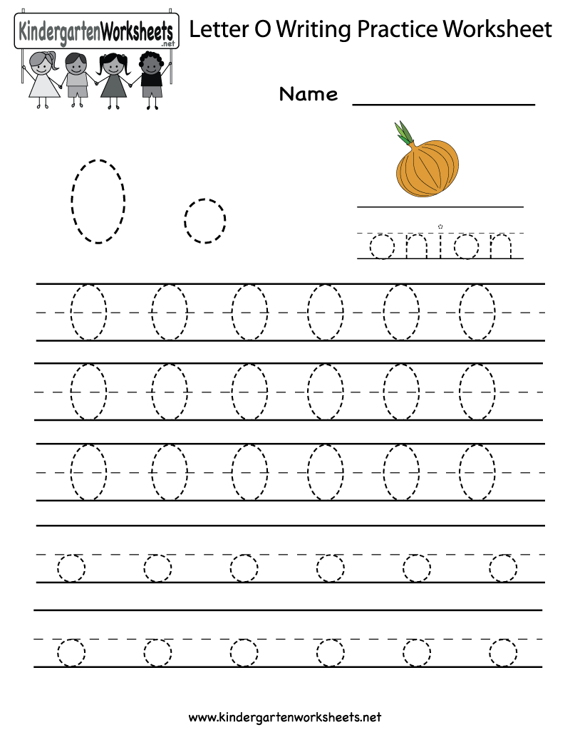 Kindergarten Letter O Writing Practice Worksheet Printable pertaining to Letter 0 Tracing