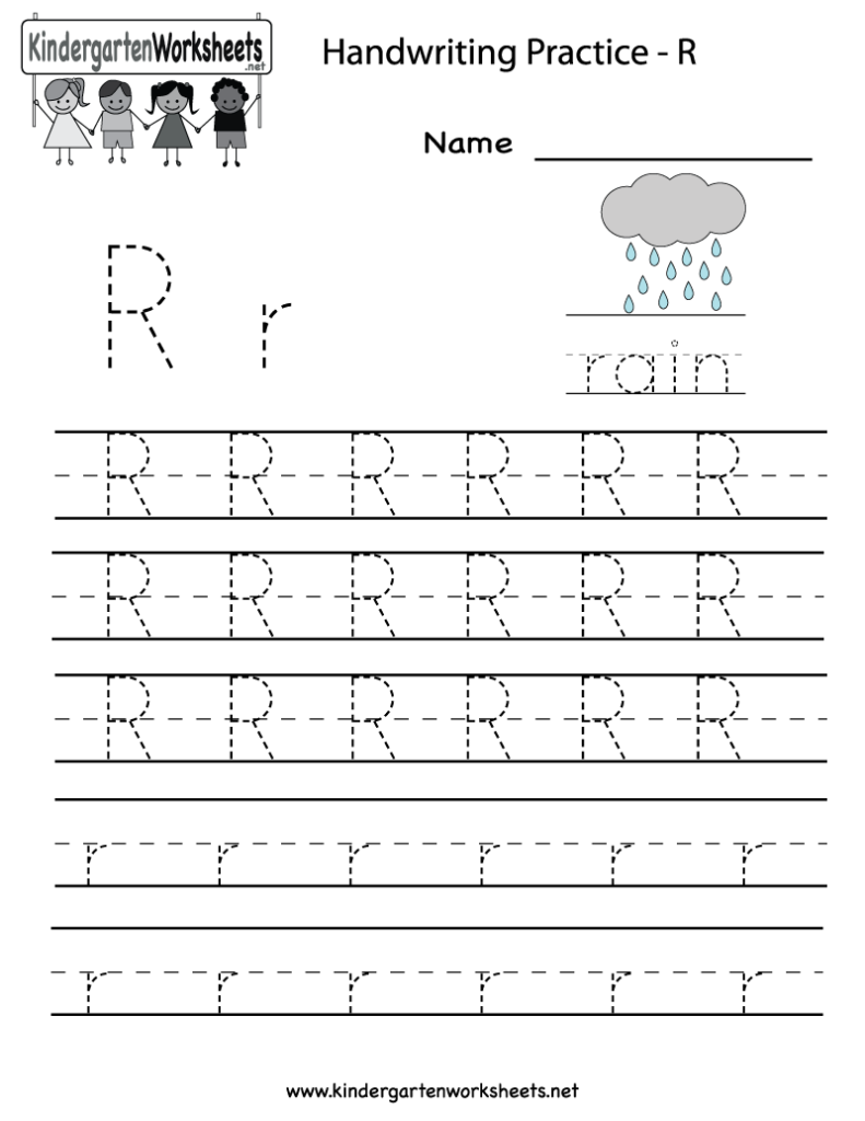 Kindergarten Letter R Writing Practice Worksheet Printable With Letter R Worksheets Preschool