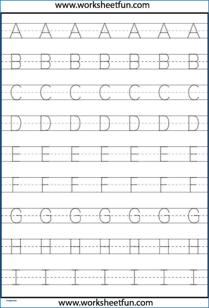 Kindergarten Letter Tracing Worksheets Pdf   Wallpaper Image