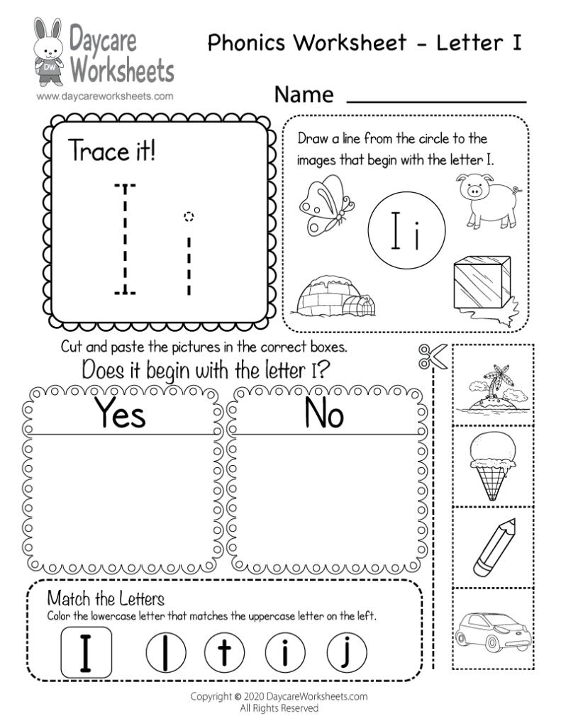 Kindergarten Phonics Worksheets Beginning Sounds I Worksheet