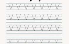 Kindergarten Worksheets: Printable Tracing Worksheet regarding Letter V Tracing Worksheets
