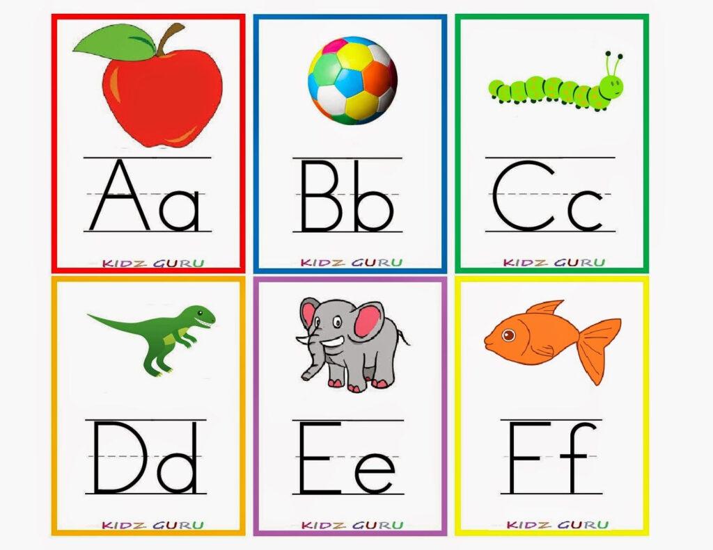 Kindergarten Worksheets: Printable Worksheets   Alphabet Within Alphabet Tracing Flashcards