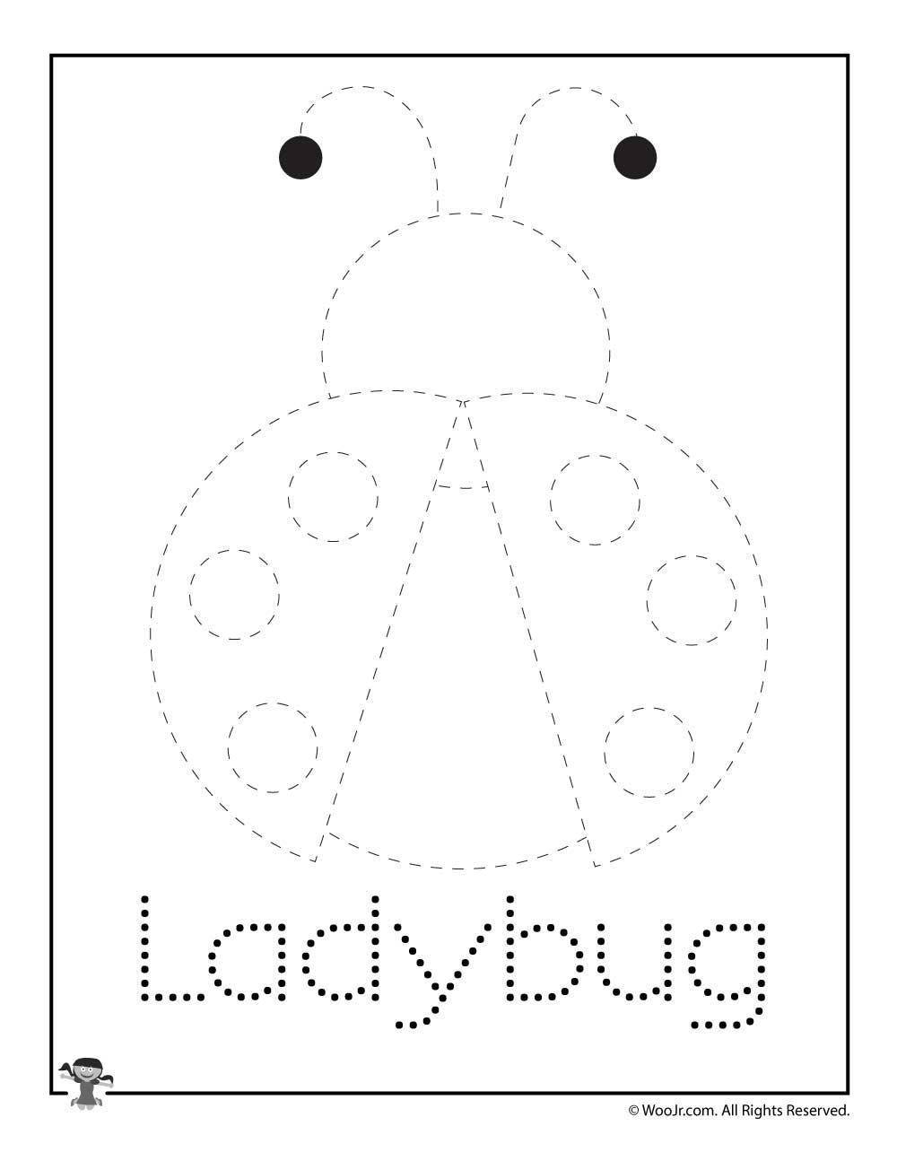 Ladybug Spring Letter Tracing Printable   Woo! Jr. Kids