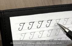 T In Cursive Alphabet