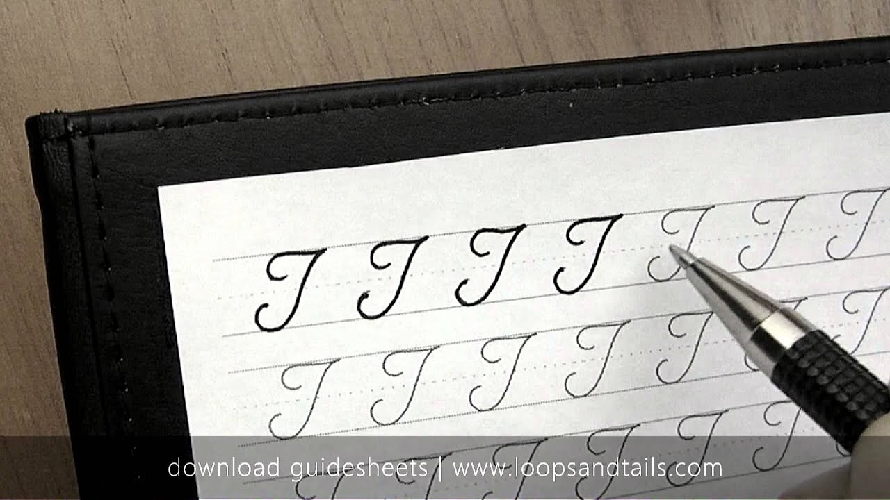 Learn Cursive Handwriting - Capital T