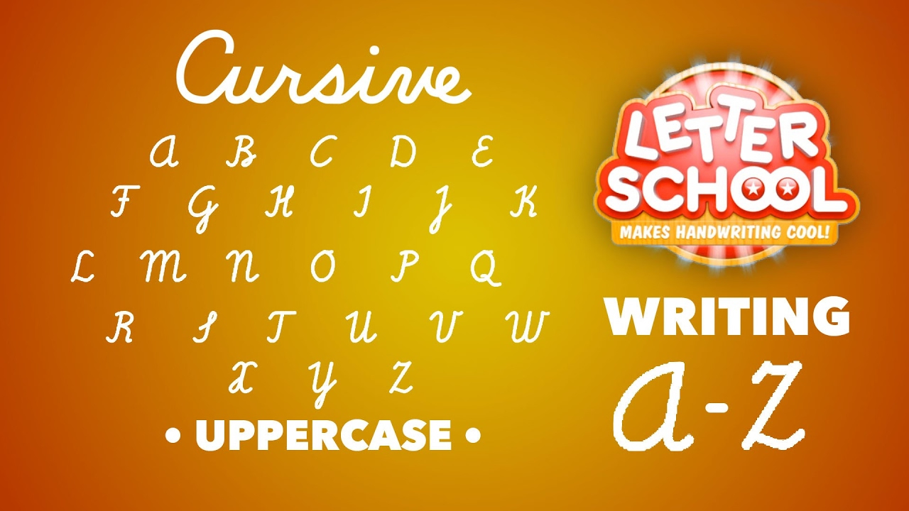 Learn Cursive Handwriting With 'cursive Writing Letterschool' - Uppercase  Abc | English Alphabet