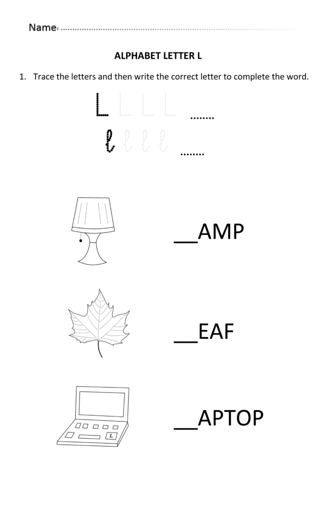 Learning And Writing Letter L For Year 1 Students | Letter L Throughout Alphabet Worksheets For Older Students