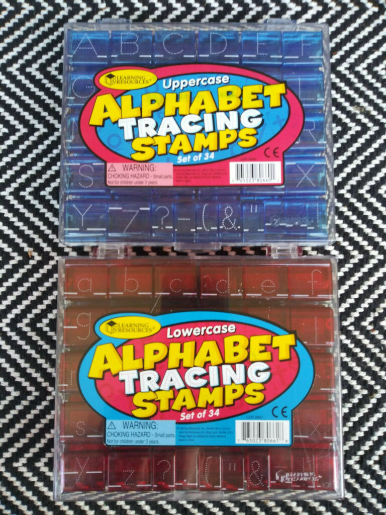 Learning Resources Alphabet Tracing Stamps   Uppercase And Lowercase Sets With Regard To Alphabet Tracing Stamps