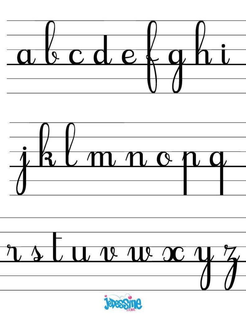 Les Lettres Cursives Minuscules | Lettres Cursives, Alphabet