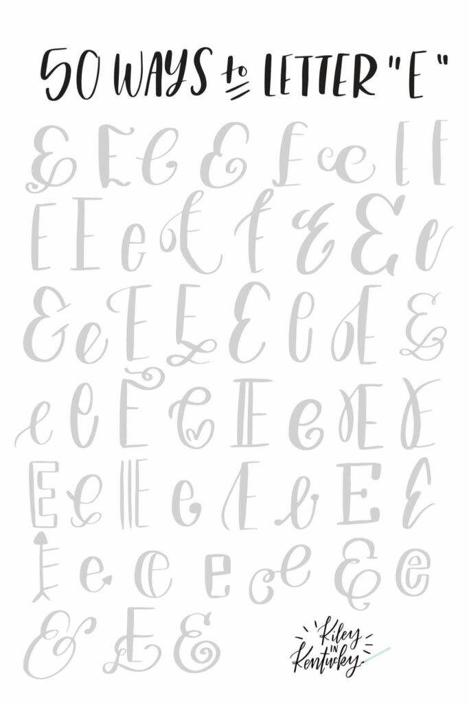 Letra E | Hand Lettering Tutorial, Lettering Alphabet