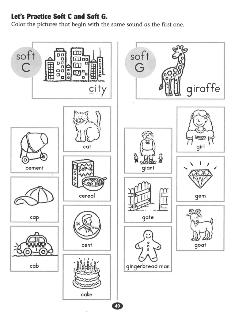 Let's Practice Soft C And Soft G #worksheet.   Letter Sound With Regard To Letter G Worksheets For First Grade
