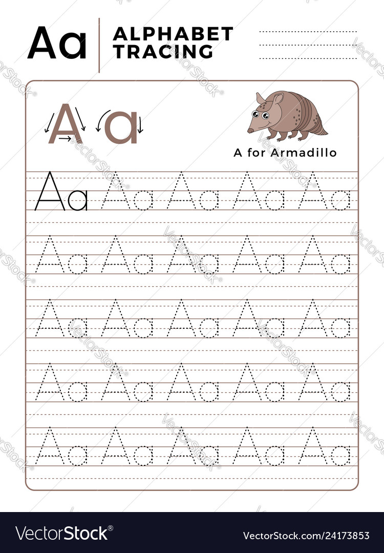 Letter A Alphabet Tracing Book With Example And for Alphabet Tracing Book Pdf