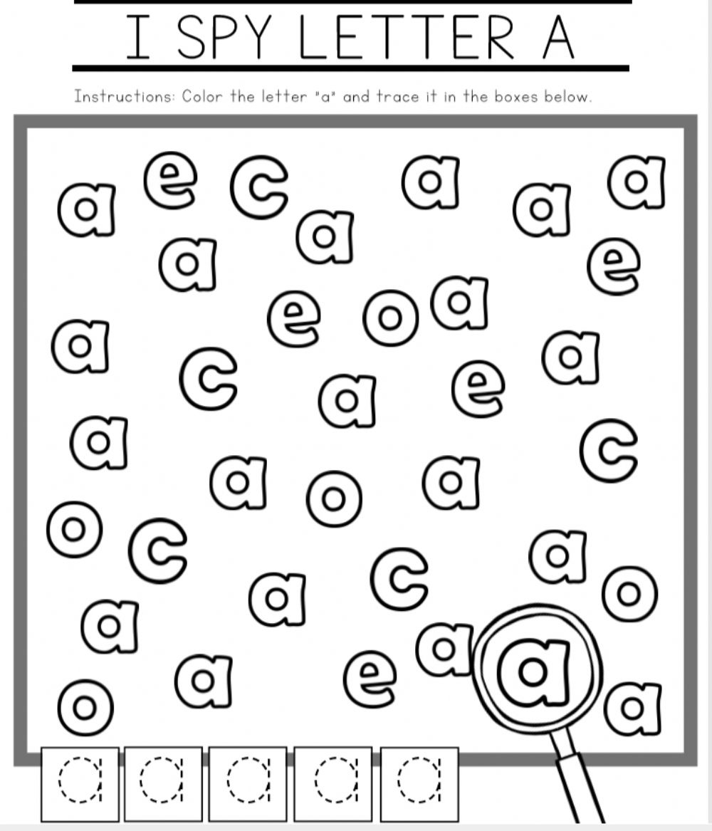 Letter Aa: The Alphabet Worksheet intended for Alphabet Worksheets Letter A
