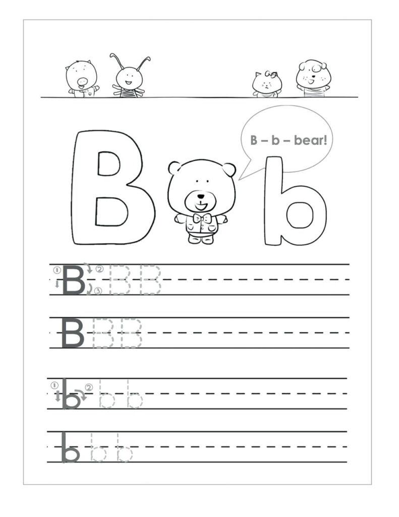 Letter B Worksheets To Printable. Letter B Worksheets Regarding Letter B Worksheets For 1St Grade