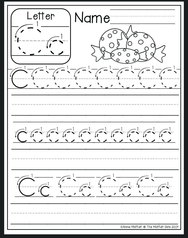 Letter C Tracing Sheet Letter C Worksheet Preschool Letter B pertaining to Letter C Tracing Sheet