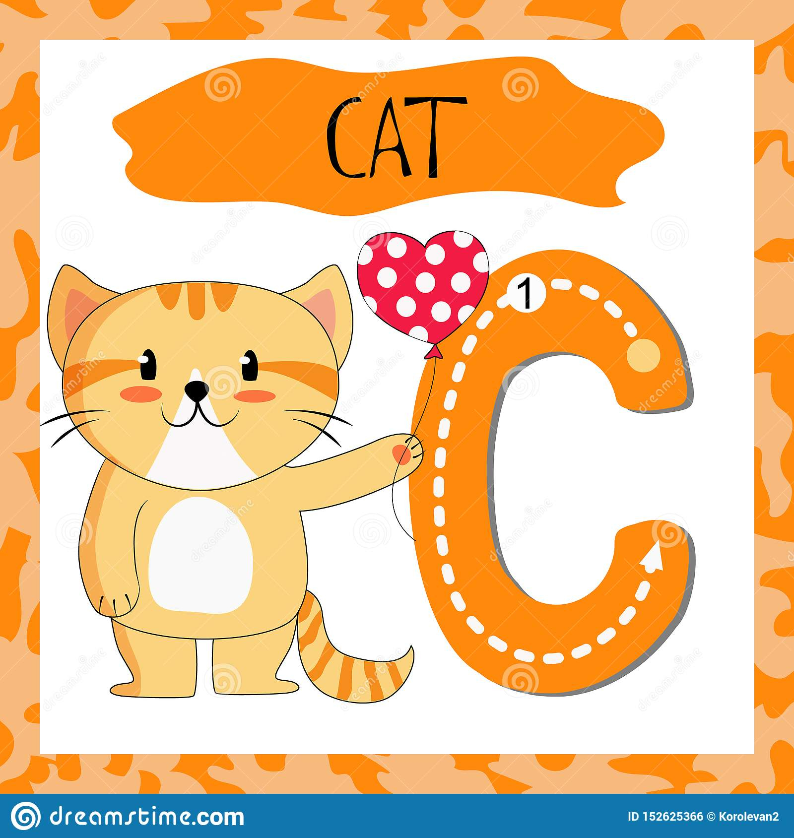 Letter C Uppercase Cute Children Colorful Zoo And Animals with regard to Alphabet Tracing Flashcards
