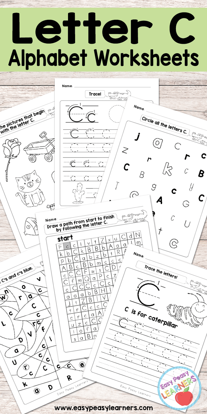 Letter C Worksheets - Alphabet Series - Easy Peasy Learners inside Letter C Worksheets Free