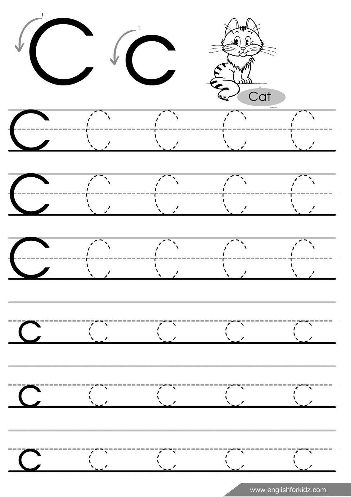 Letter C Worksheets For Kindergarten | Worksheet For within C Letter Tracing