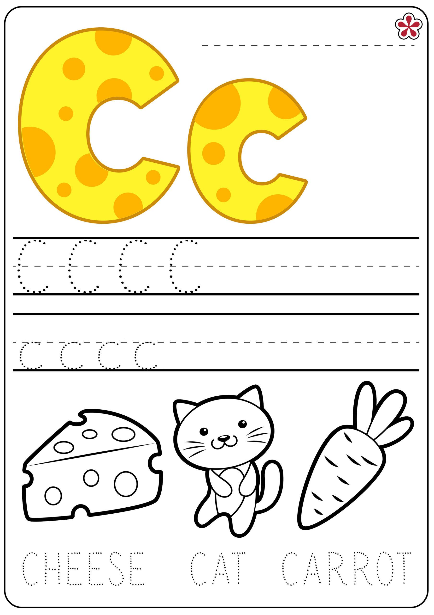 Letter C Worksheets. Teachersmag throughout Letter C Worksheets Tracing