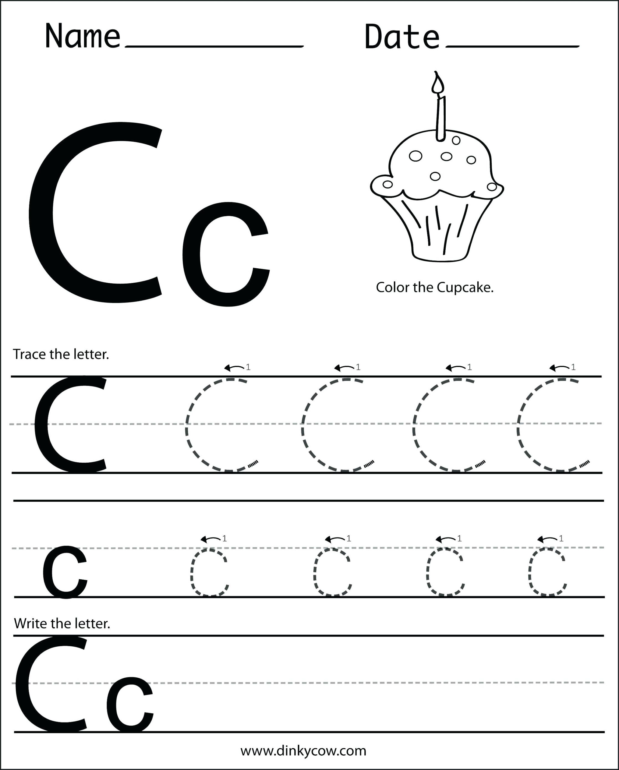 Letter C Worksheets To Learning. Letter C Worksheets - Misc with regard to Letter C Worksheets For Preschool