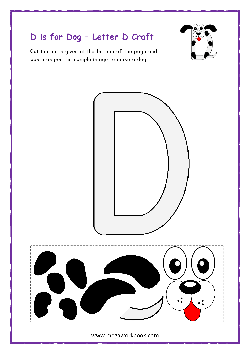 Letter D Activities - Letter D Worksheets - Letter D with Letter D Worksheets For Preschool