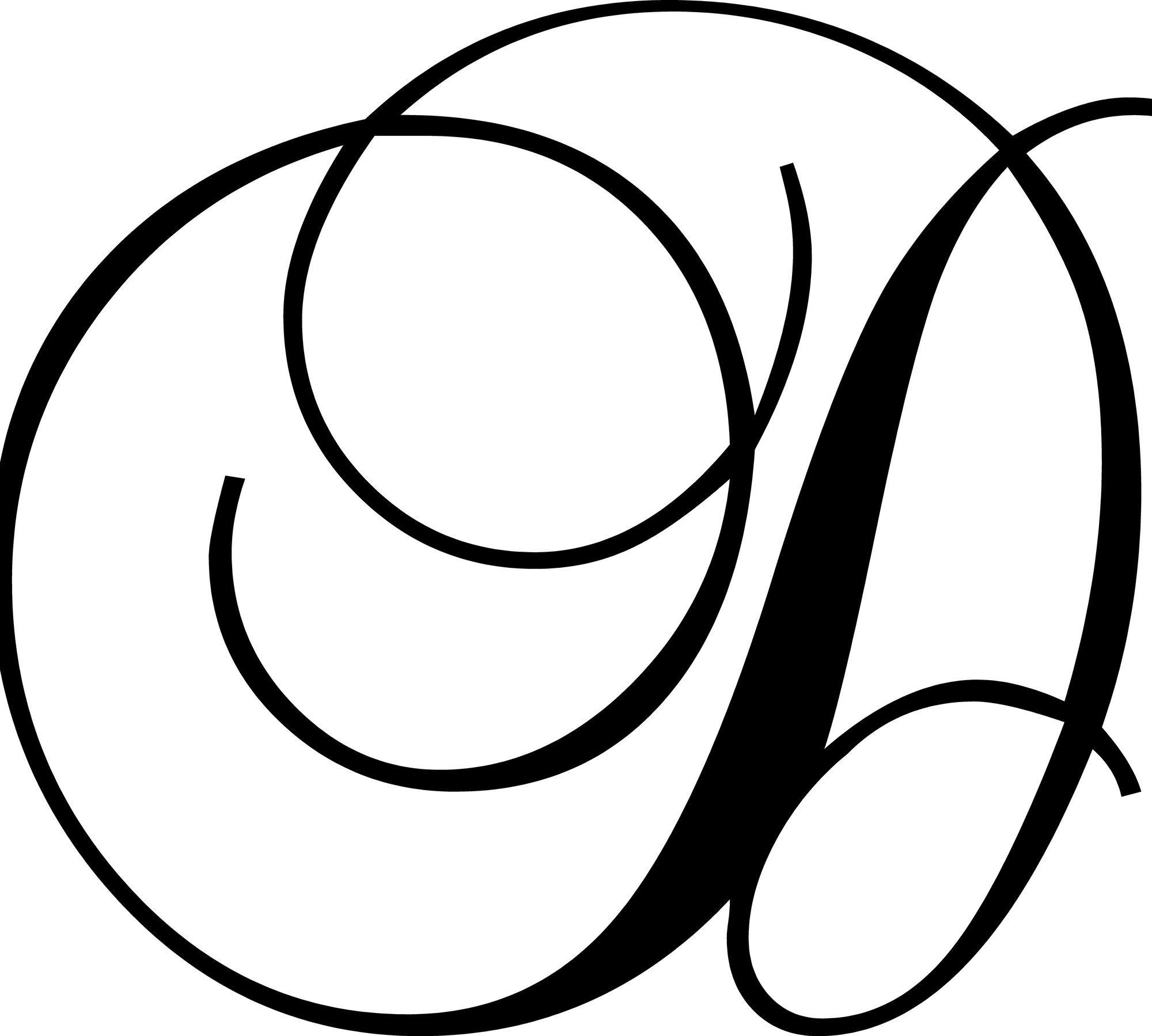 """Letter """"d"""" Wall Decal   Letter D, Cursive Alphabet, Lettering"""