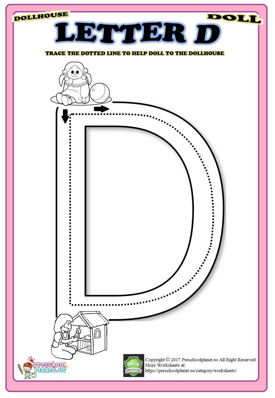 Letter D Worksheet – Preschoolplanet intended for Letter D Worksheets For Toddlers