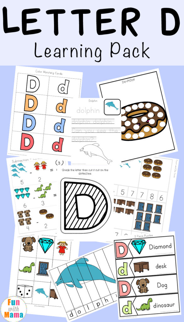 Letter D Worksheets + Activities   Fun With Mama Throughout Letter D Worksheets For 2 Year Olds