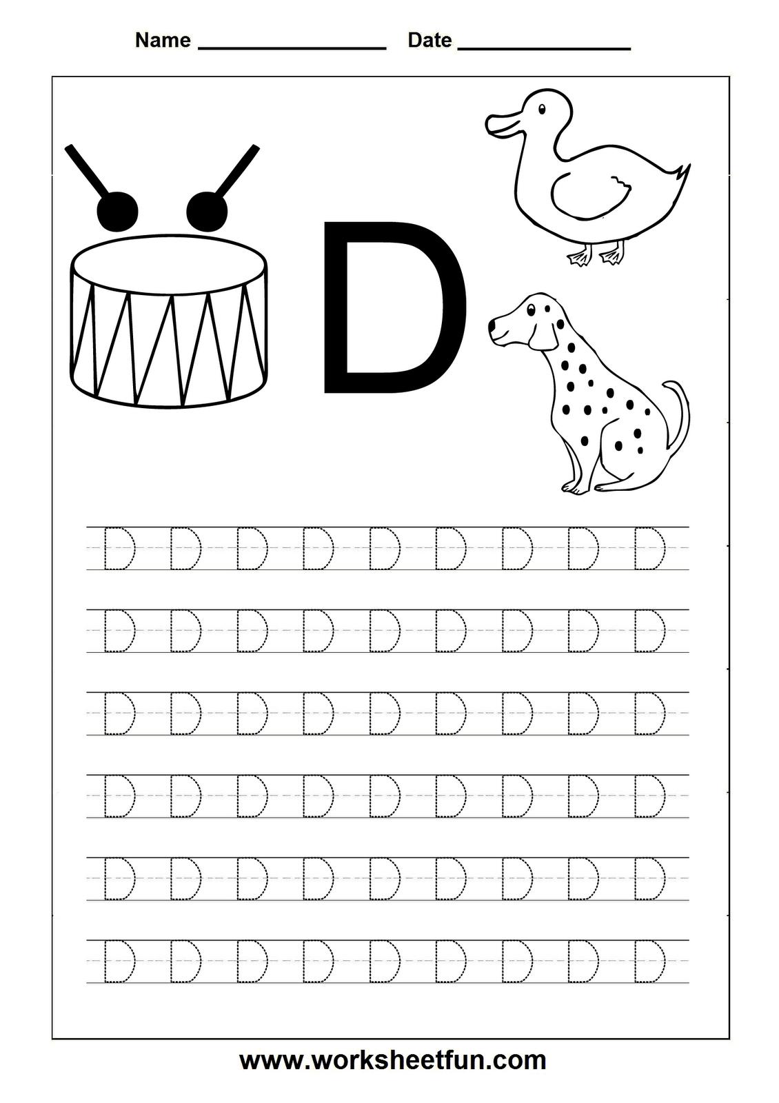 Letter D Worksheets Hd Wallpapers Download Free Letter D inside Alphabet Tracing Hd