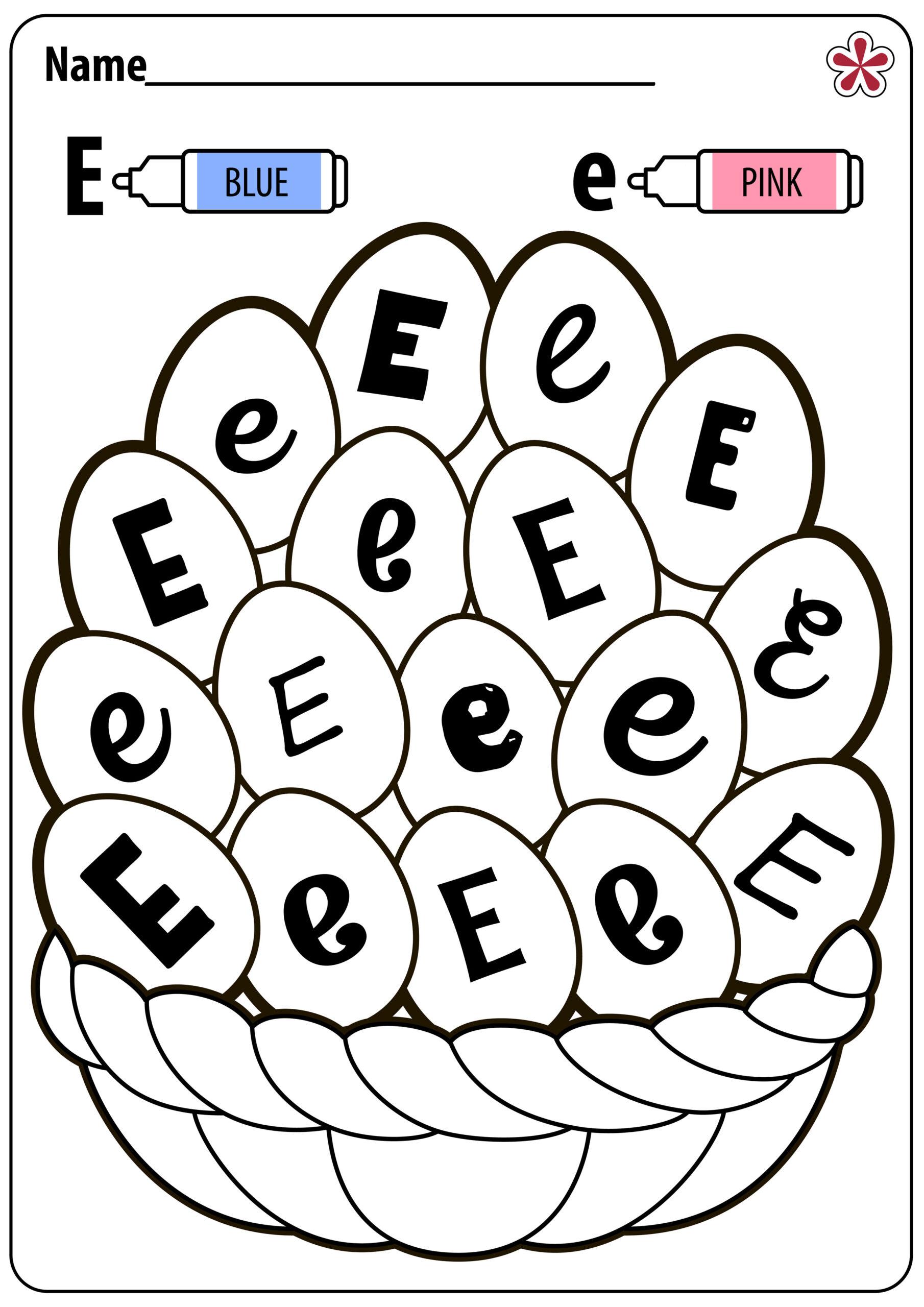 Letter E Worksheets For Kindergarten And Preschool inside Alphabet E Worksheets Kindergarten