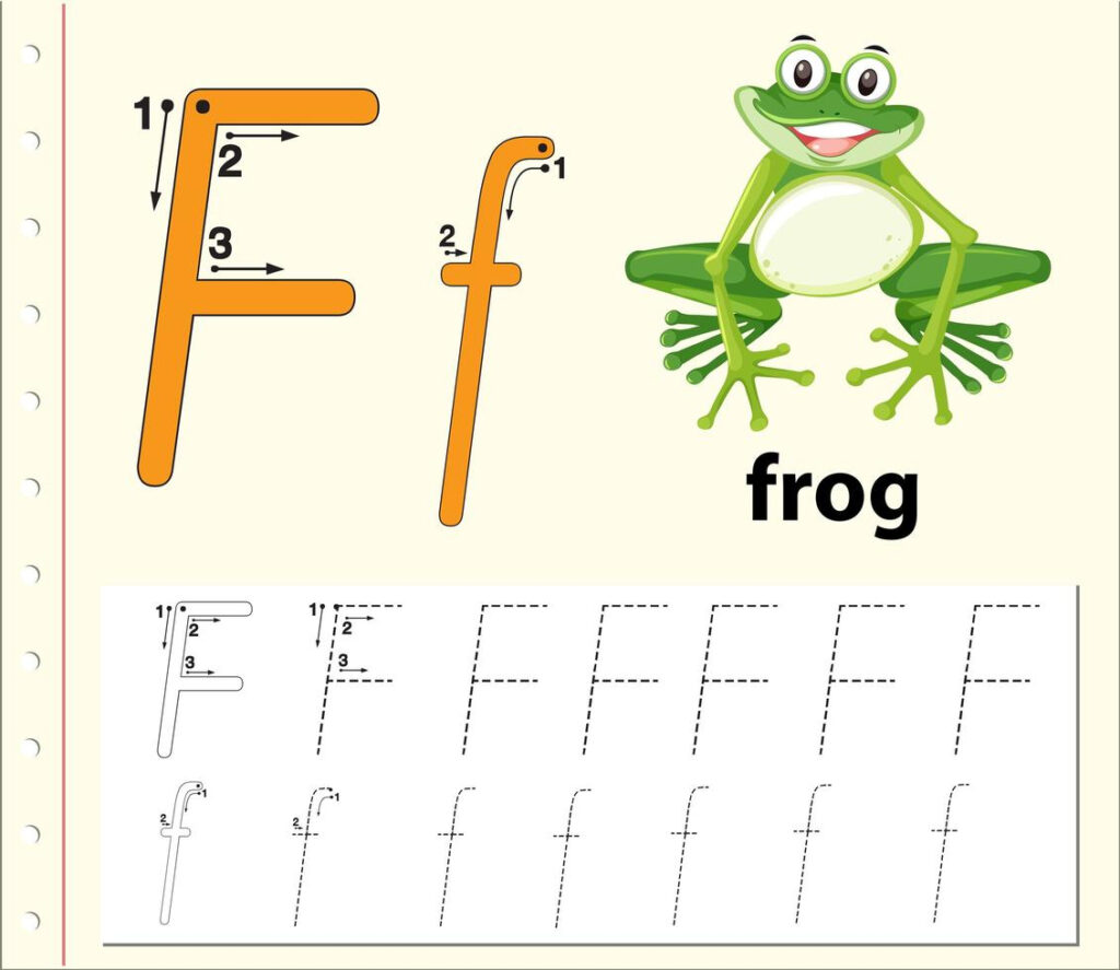 Letter F Tracing Alphabet Worksheets   Download Free Vectors With Letter F Tracing Sheet