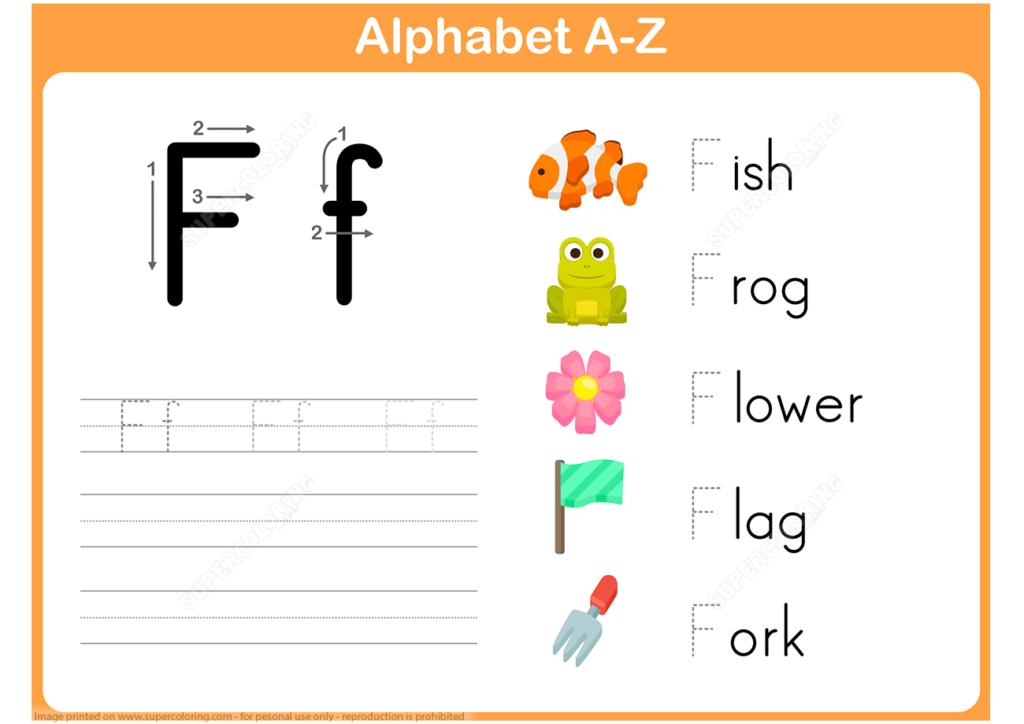 Letter F Tracing Worksheet | Free Printable Puzzle Games With Regard To Letter F Tracing Printable