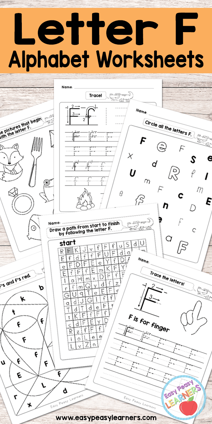 Letter F Worksheets - Alphabet Series - Easy Peasy Learners pertaining to Letter F Worksheets For Kindergarten Pdf