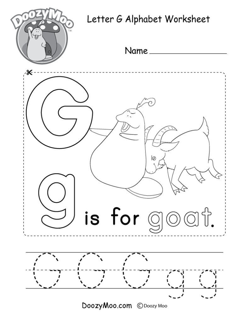 Letter G Alphabet Activity Worksheet   Doozy Moo Pertaining To G Letter Worksheets