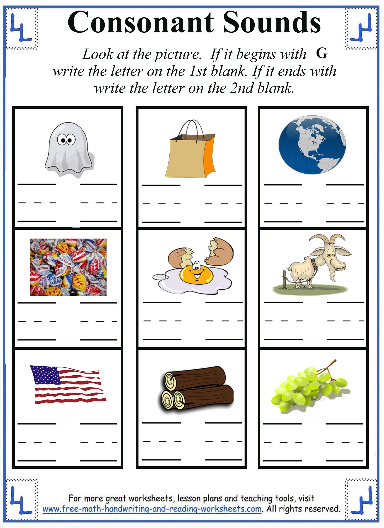 Letter G Worksheet Activities intended for Letter G Worksheets For First Grade